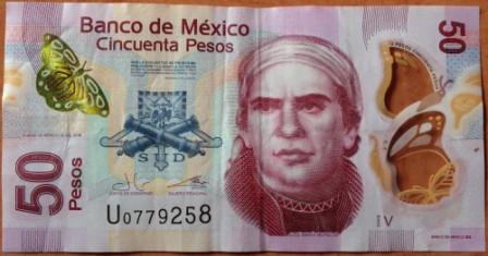 waluta Meksyk - banknot 50 pesos