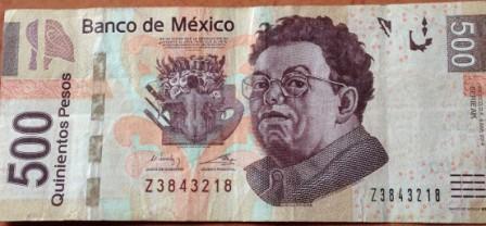 Waluta Meksyku - banknot 500 pesos