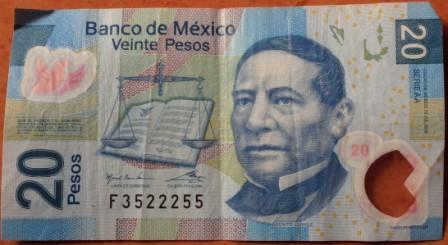 Waluta meksyku banknot 20 pesos (MXN)